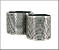 Perforated steel plant containers